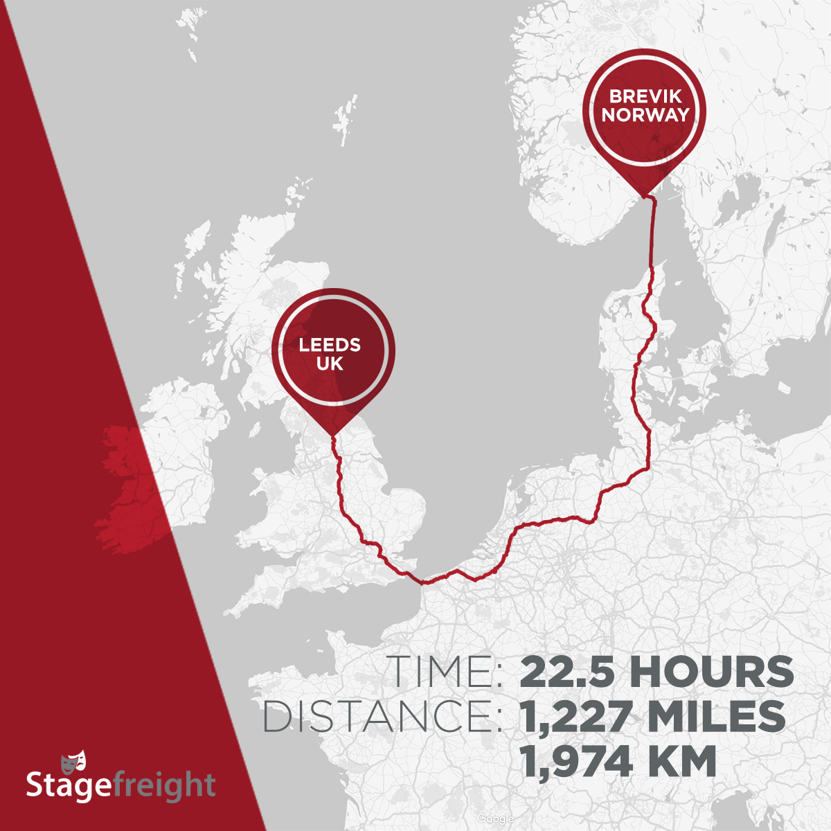 Brevik event truck route Stagefreight