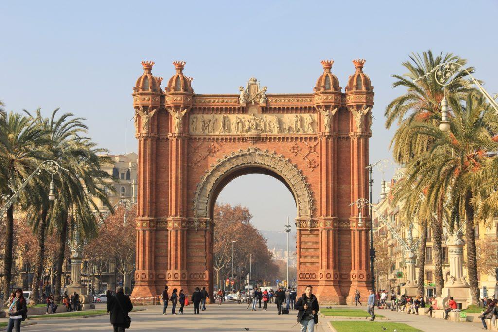 triumphal arch Barcelona