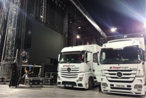 Stagefreight Trucks At Event