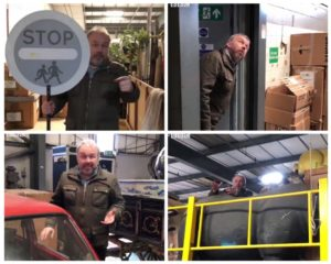 Richard Stead collage visiting Stagefreight