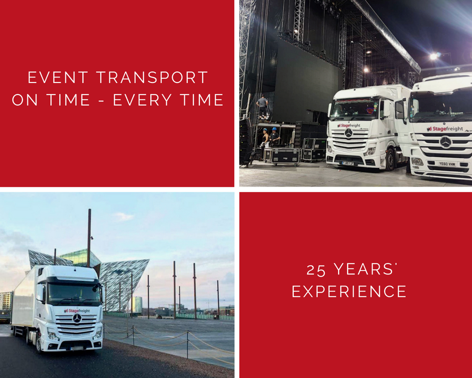 Stagefreight truck collage with services