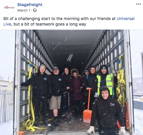 stagefreight and Universal Live Beast from the East post