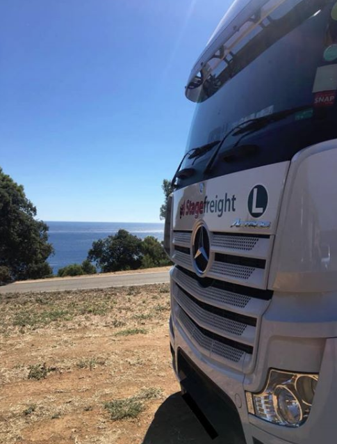 Stagefreight truck in Spain