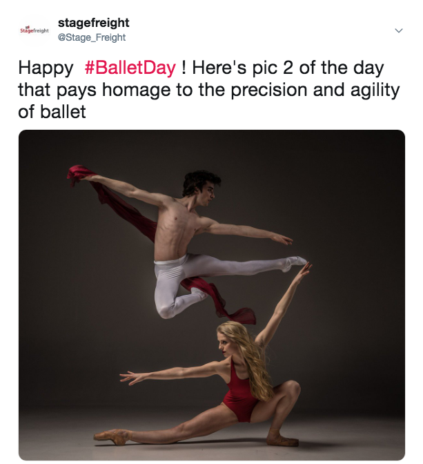 ballet day stagefreight tweet