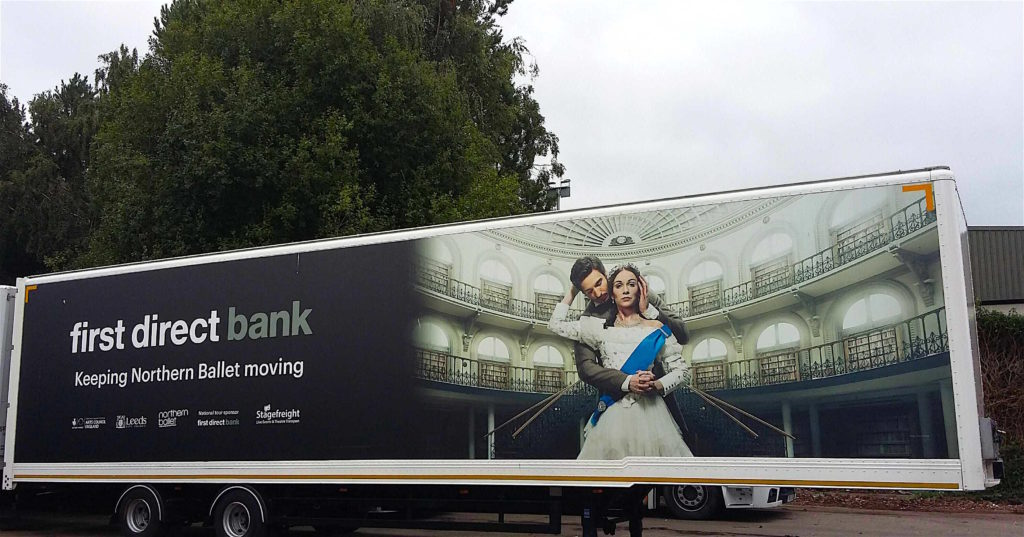 Stagefreight trailer Northen Ballet wrap Victoria wide shot