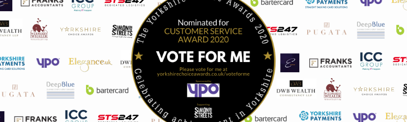 Yorkshire Choice Awards vote for me banner