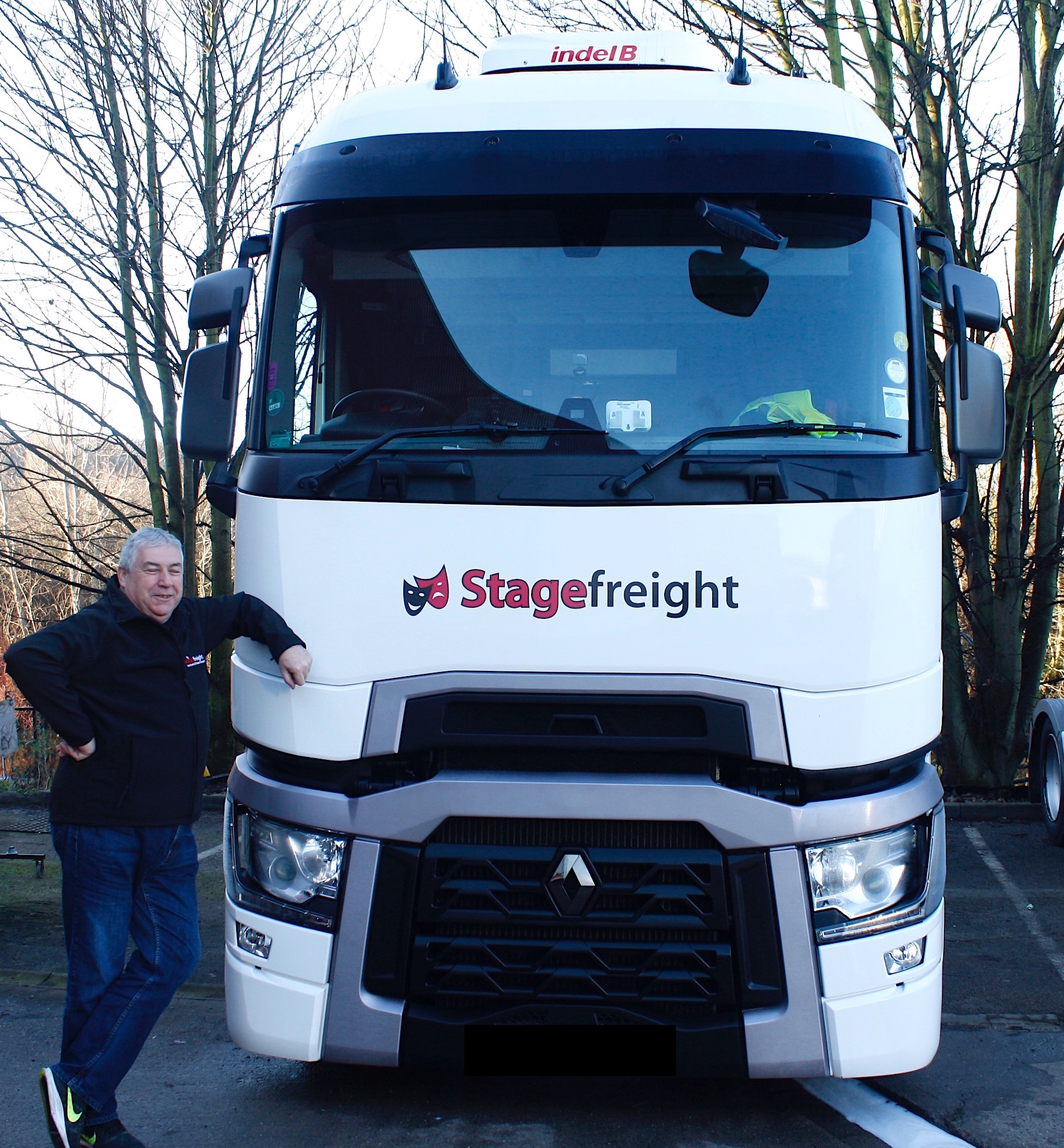 Ross Hemsworth with his Stagefreight Truck Renault T smiling