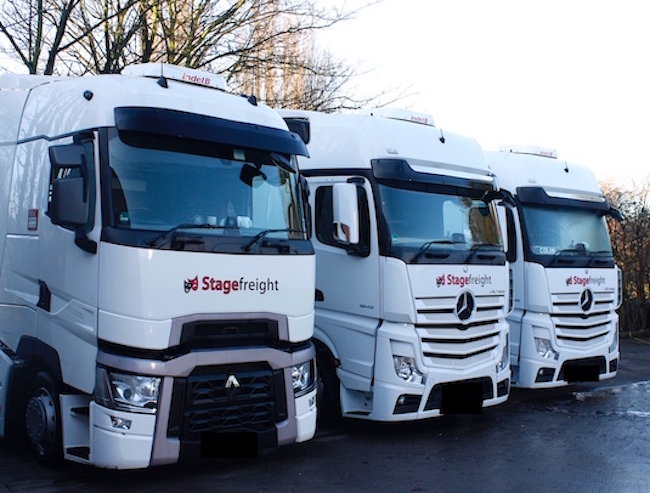 Stagefreight fleet trucks Mercedes and Renault